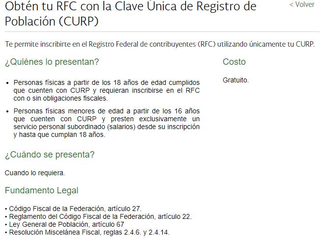 información de Curp y RFC